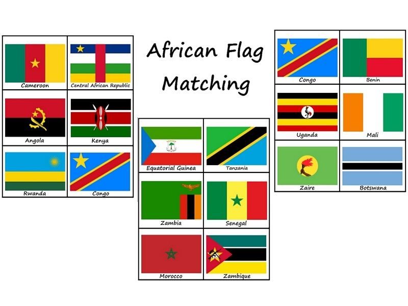 Pin By Neita Rader On Theme Party Africa African Flag Flag Printable Matching Games