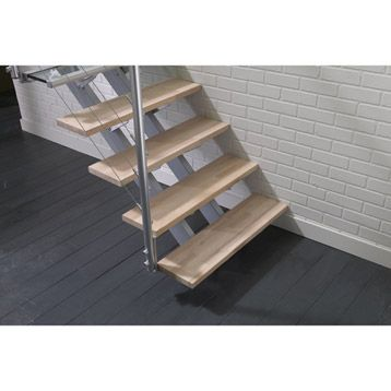 Escalier Droit En Bois Aluminium Escatwin Escapi Leroy