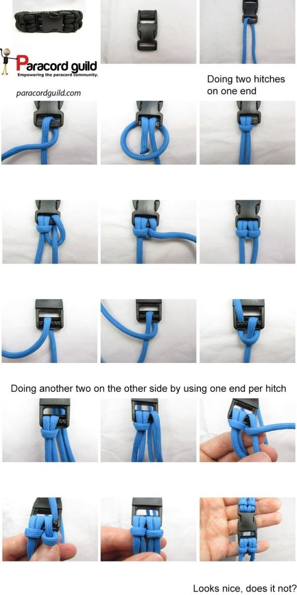 How To Attach A Buckle To A Paracord Bracelet Paracord Guild By