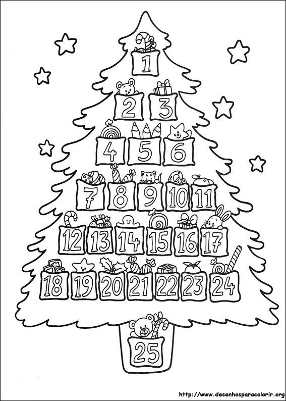 De Arvores De Natal Para Colorir Navidad Christmas Cores Do