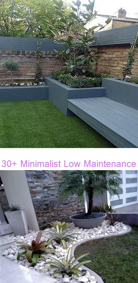 30+ Minimalist Low Maintenance Garden Ideas For Front Yard And Backyard - Modern #landscaping #diygardenbox #diygardendecordollarstores #diygardenlandscaping #Floralarrangeme…