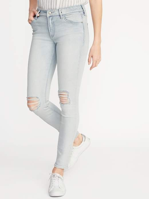 7e15e204b6f Old Navy Mid-Rise Distressed Rockstar Super Skinny Jeans for Women ...