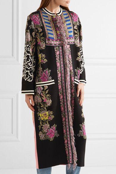 Fringed floral jacquard-knit cardigan Etro Discount Big Sale Discount Wholesale Price Outlet Ebay SkXJD7m