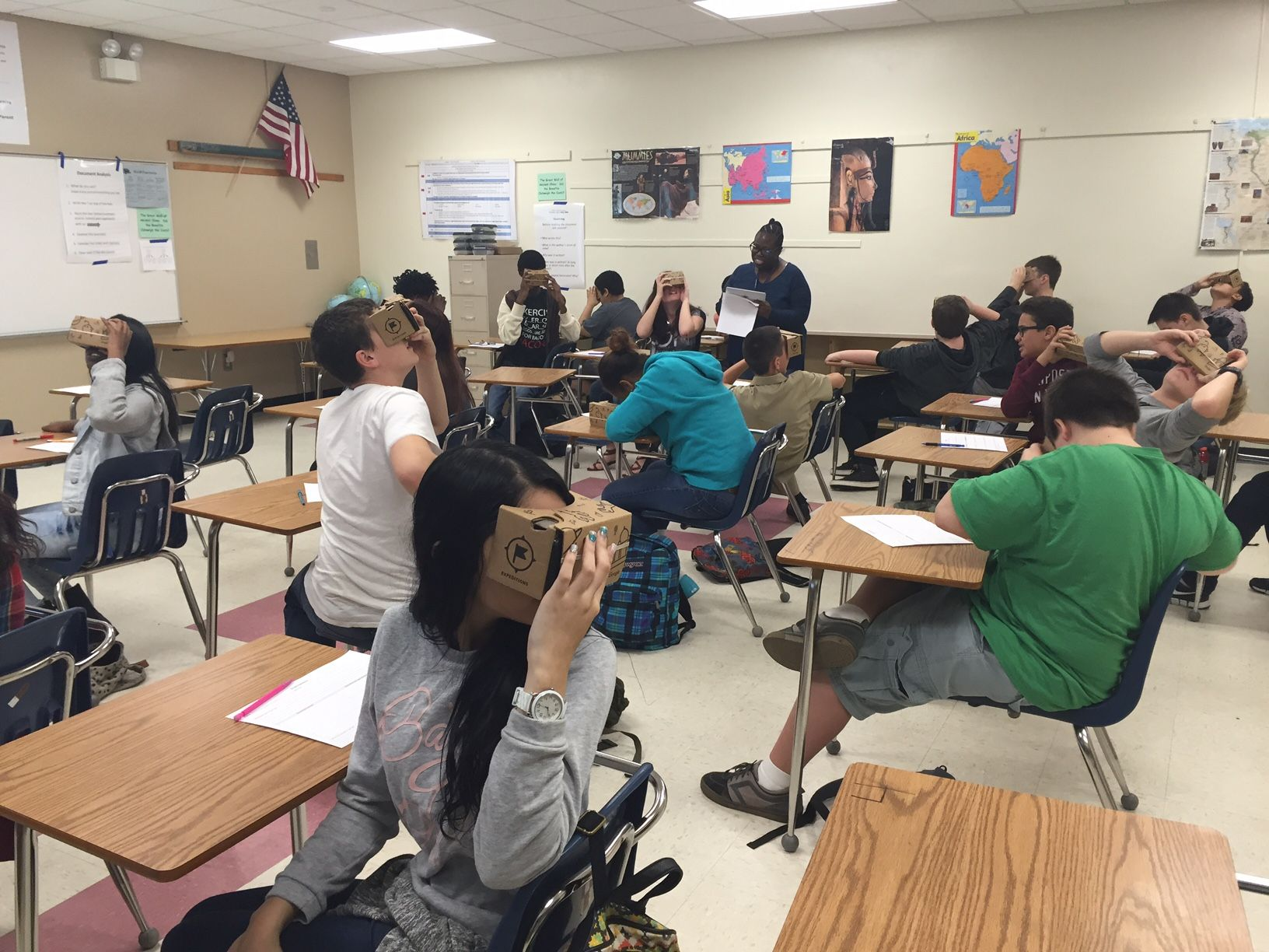 Students At Greenwood Lakes Middle School Try Out