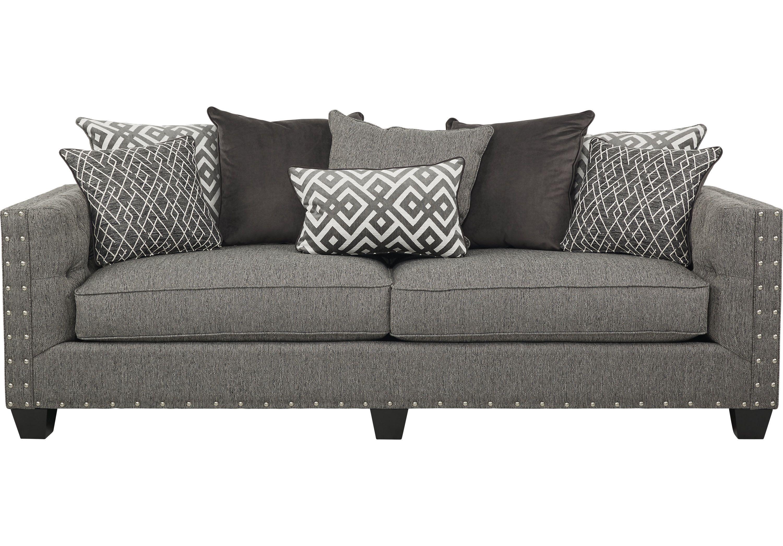 Cindy Crawford Home Chelsea Hills Gray Sofa Affordable Sofa