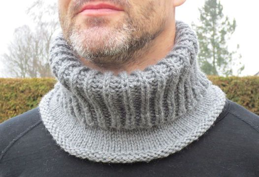 Photo of Knit this very practical and beautiful shawl collar in full patent pattern …