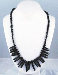vintage black coral branch necklace
