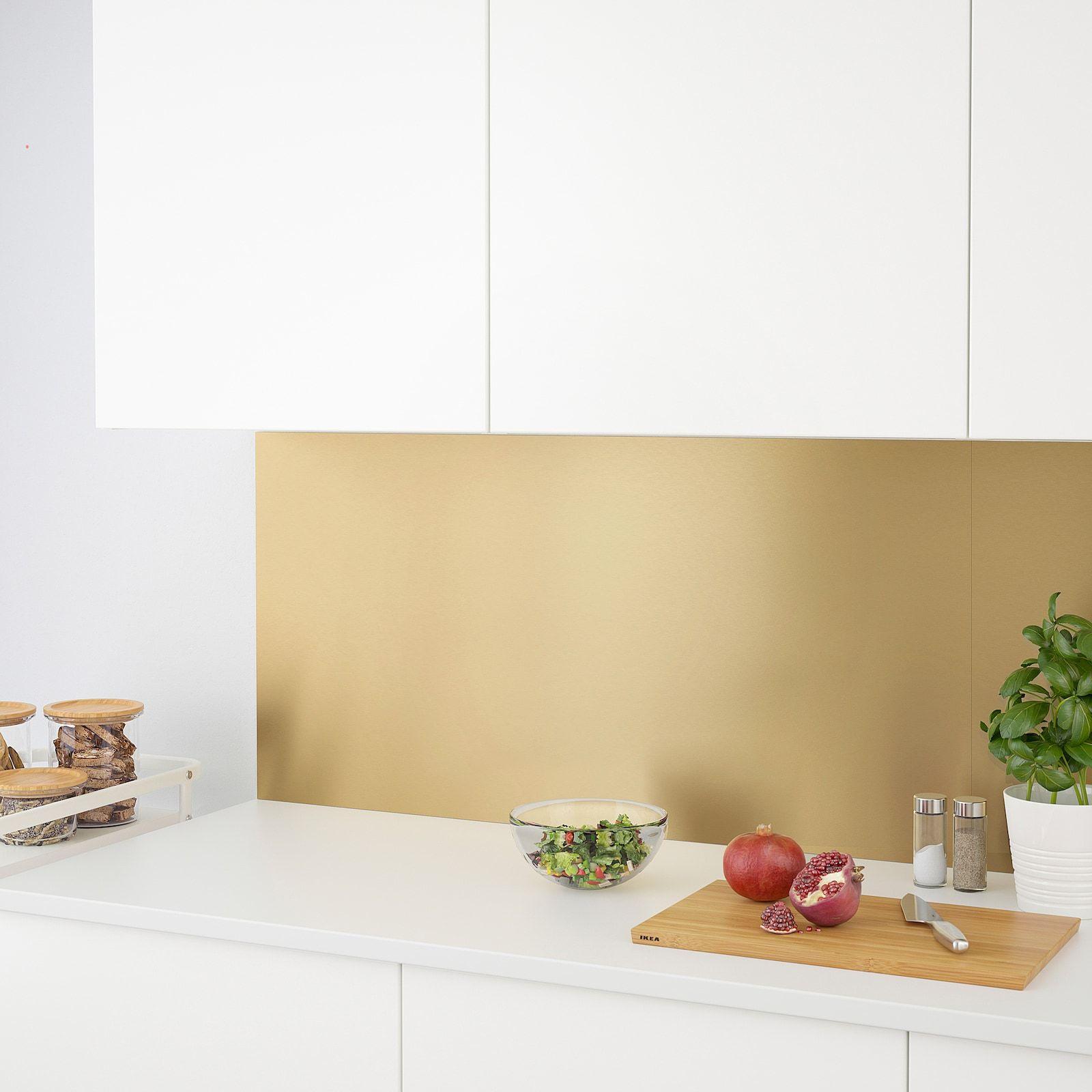 Lysekil Wandpaneel Tweezijdig Messingkleur Roestvrij Staalkleur Ikea In 2020 Wandpaneele Wandverkleidung Haus Interieurs