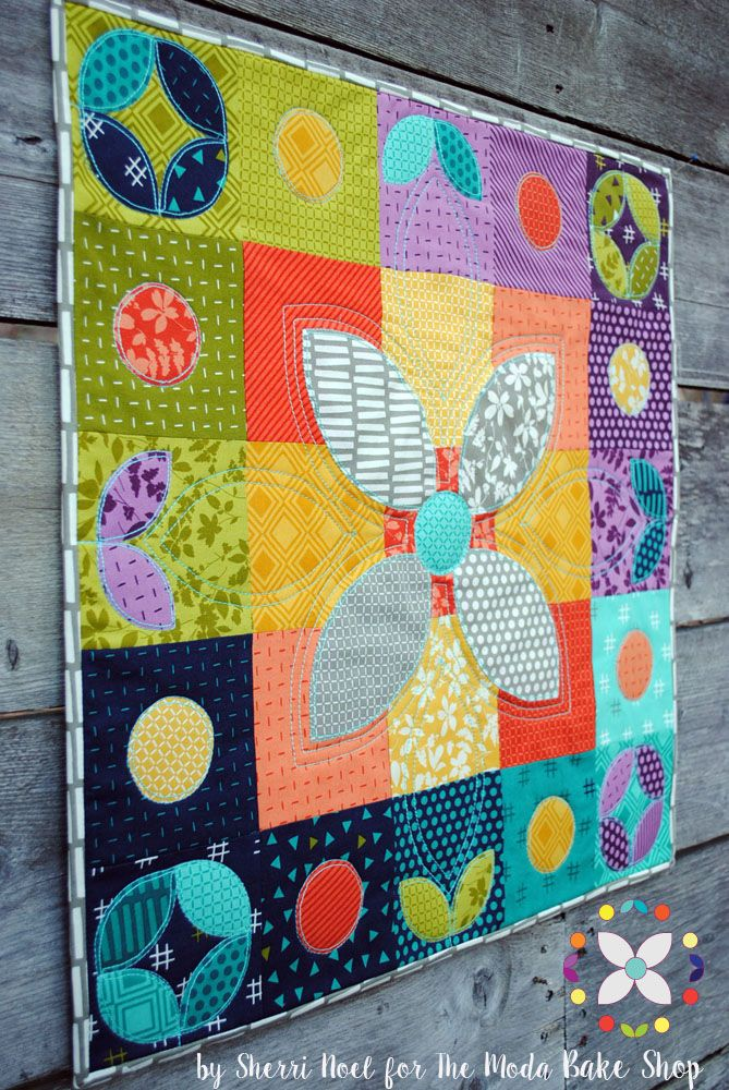Color Play Holiday Mini Quilt Moda Bake Shop Mini Quilt