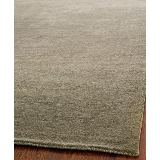 Safavieh Loomed Knotted Himalayan Solid Grey Wool Rug 8 X 10