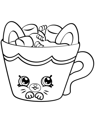 Hot Choc Petkins Shopkin Målarbok | Coloring pages | Pinterest ...