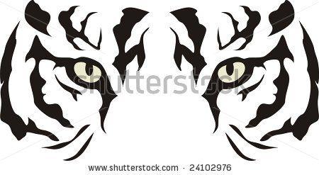 Tiger Eyes Tattoo Stencil Ideas And Designs Tiger Stencil