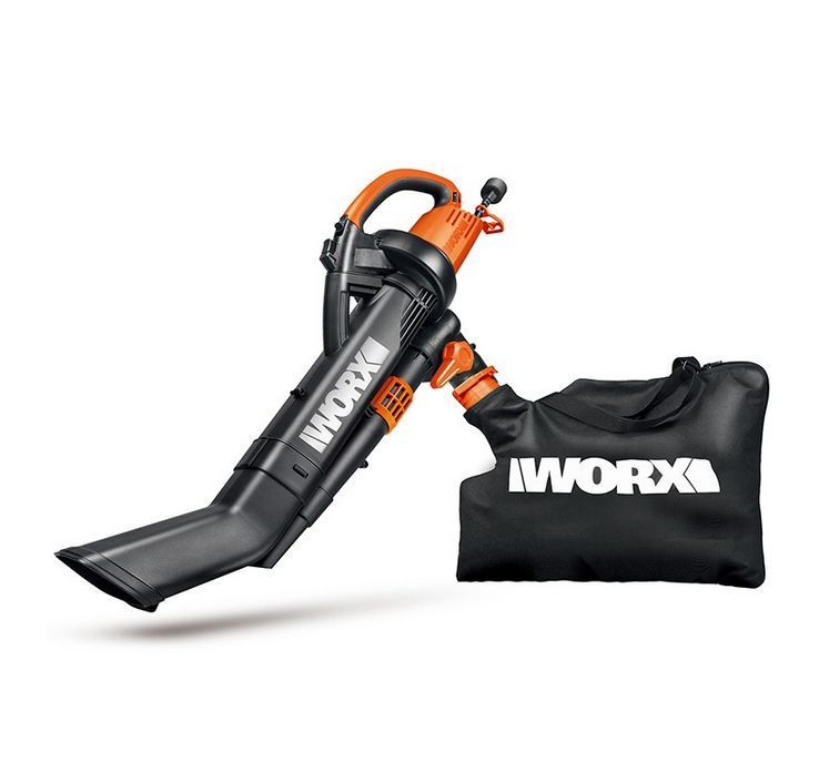 Details About Worx Wg509 Trivac 3 In 1 Electric Leaf Blower Mulcher Vacuum With Metal Blade Electric Leaf Blowers Leaf Blower Blowers