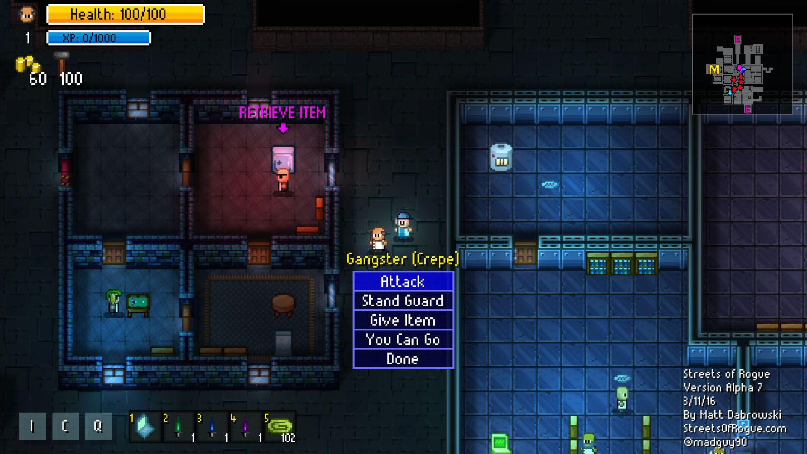Streets of Rogue (PC) Preview Rogues, Street, Pixel art