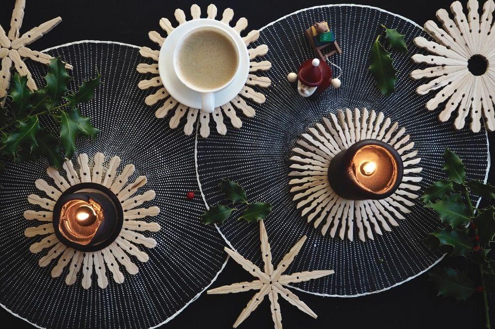 dezente weihnachtsdeko oder untersetzer diy holzsterne diy pinterest weihnachtsdeko. Black Bedroom Furniture Sets. Home Design Ideas