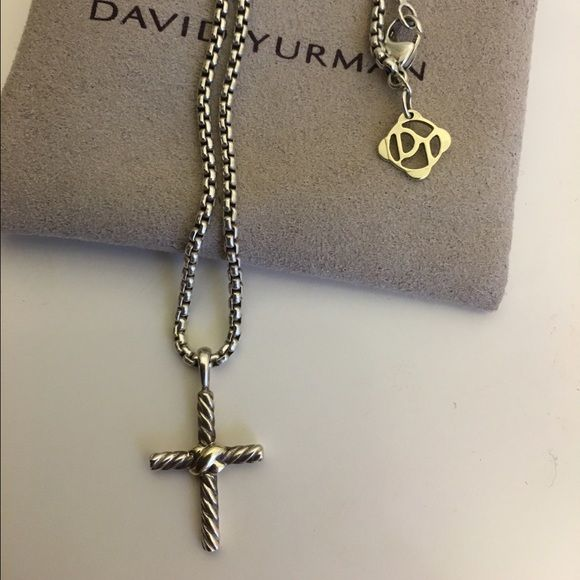 David yurman x cross necklace 100 authentic david yurman petite x david yurman x cross necklace 100 authentic david yurman petite x cross with gold on chain 16 in excellent used condition used very few times aloadofball Images