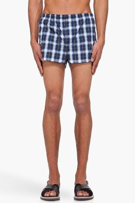 Givenchy Plaid Swim Shorts for Men | SSENSE