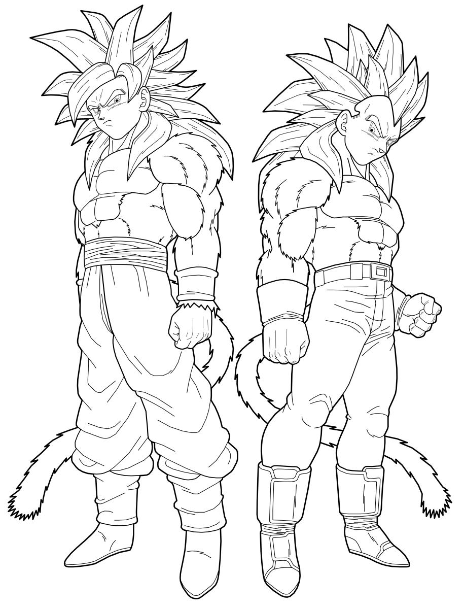 Goku Ssj4 E Vegeta Ssj4 Dragon Ball Z Imagenes De Goku