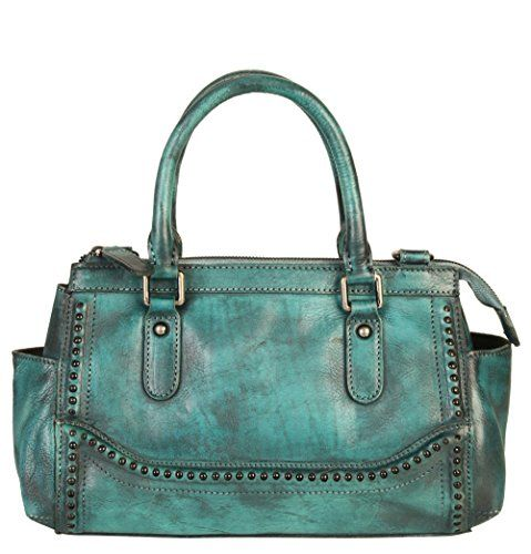 9d9e6ab2a5 Diophy Genuine Leather Old Fashion Top Handles Doctor Style Handbag 140155  Blue  350.00