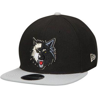 b20fe1f84e81 Men s Minnesota Timberwolves New Era Black Gray 2-Tone Original Fit 9FIFTY  Adjustable Snapback Hat