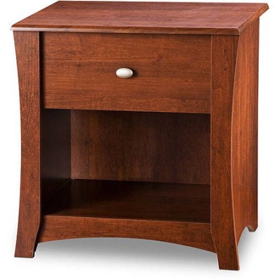 Cherry Wood Nightstand Bedside Cabinet Table Bedroom Night Stand 1 Drawer Lamp Souths
