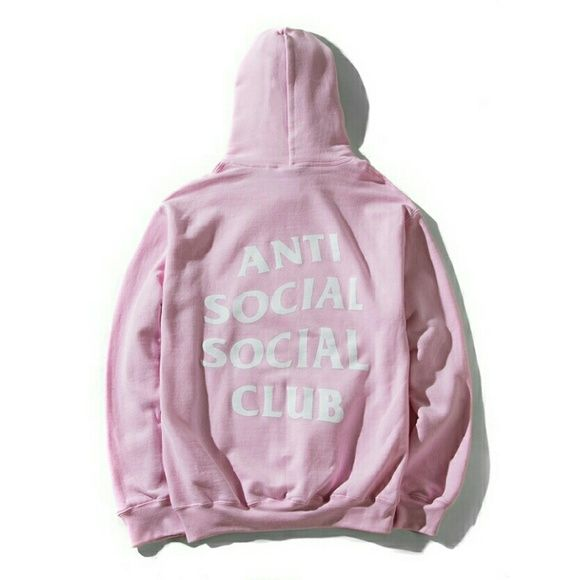A.S.S Club   Anti Social Social Club Tops - Anti Social Social Club Pink  Hoodie Size Medium 5ef1acefe53d