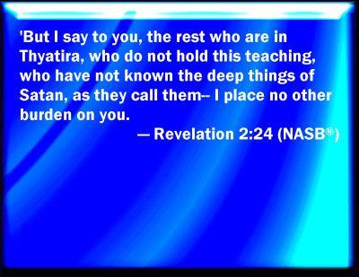 revelation 2 24 depths of satan bible verse powerpoint slides for
