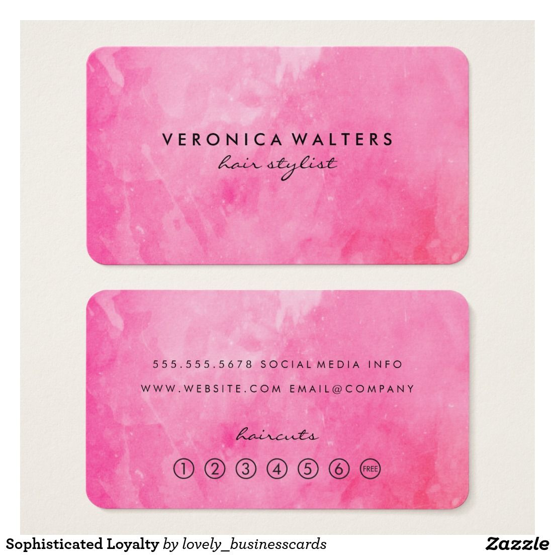 Sophisticated Loyalty Business Card #nailartist #discount ...