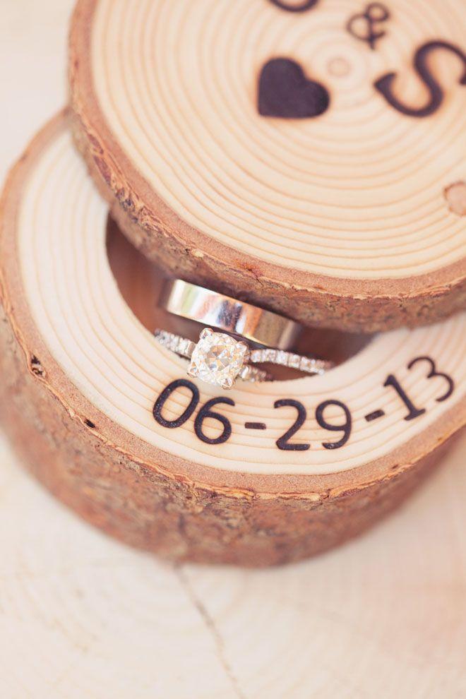 Wedding date wood keepsake for rings | DIY Project