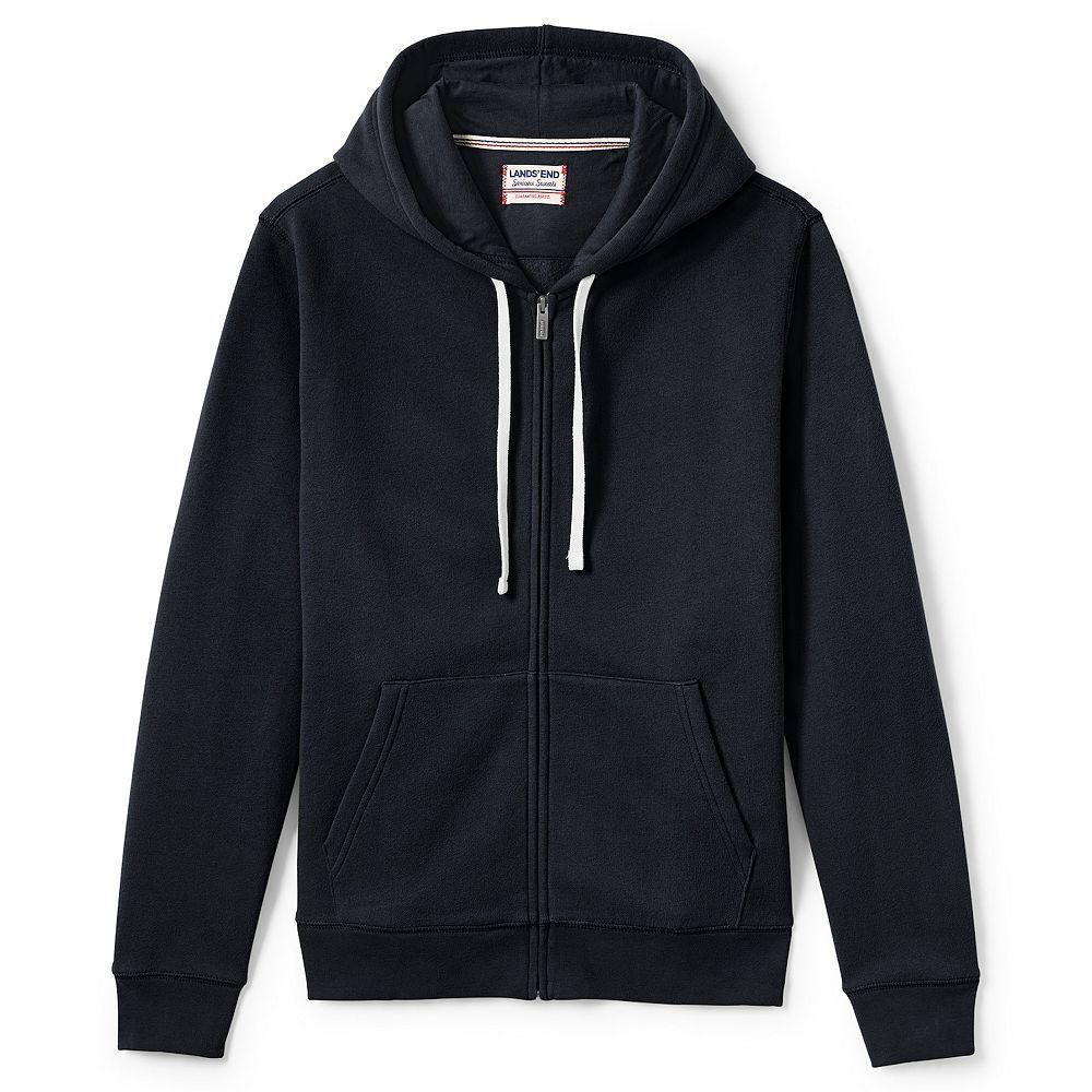 Men S Lands End Serious Sweats Full Zip Hoodie Blue Hoodie Men Full Zip Hoodie Hoodie Outfit Men [ 1000 x 1000 Pixel ]
