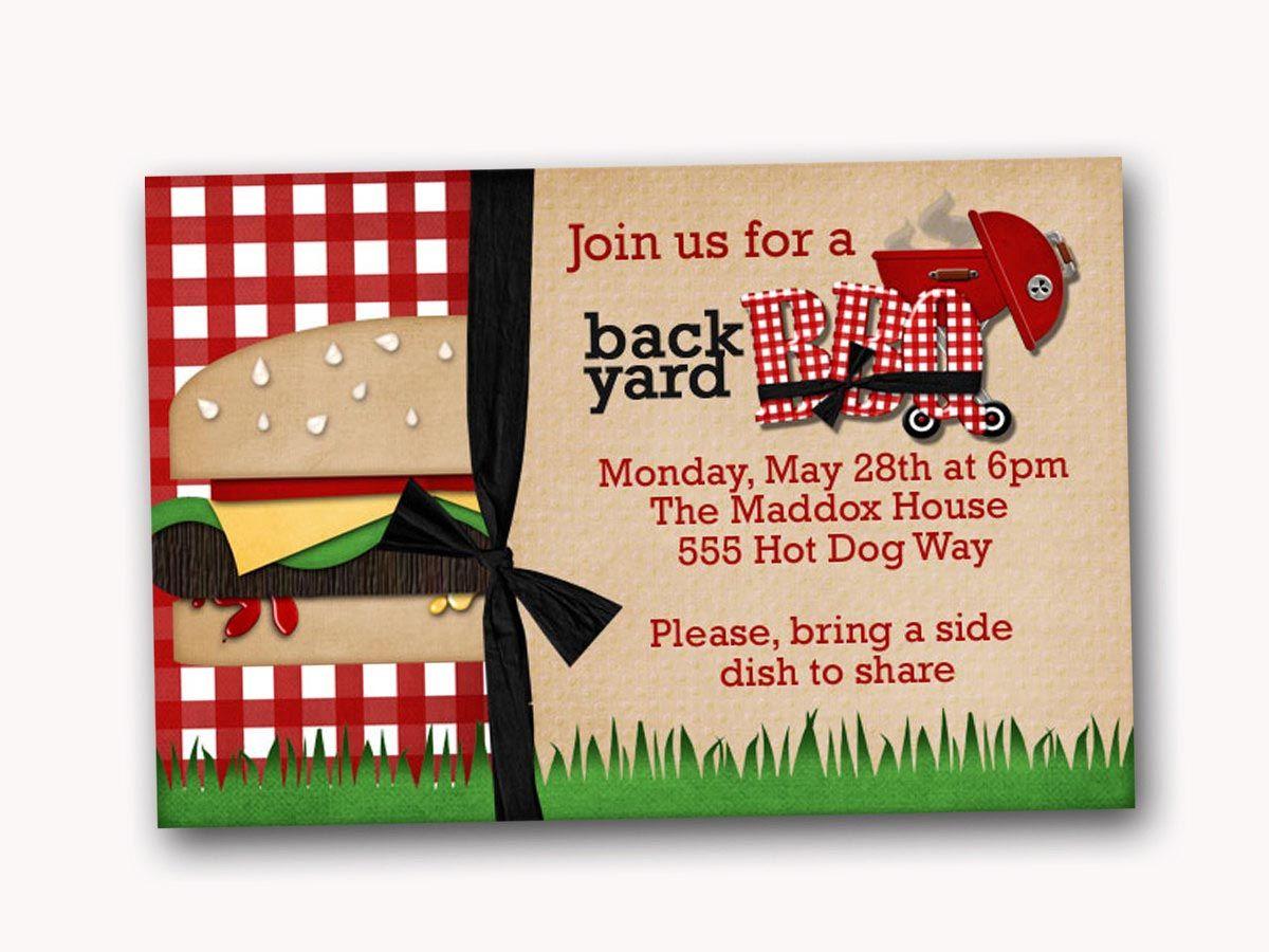 sample invitation for bbq party bbq pinterest bbq summer bbq