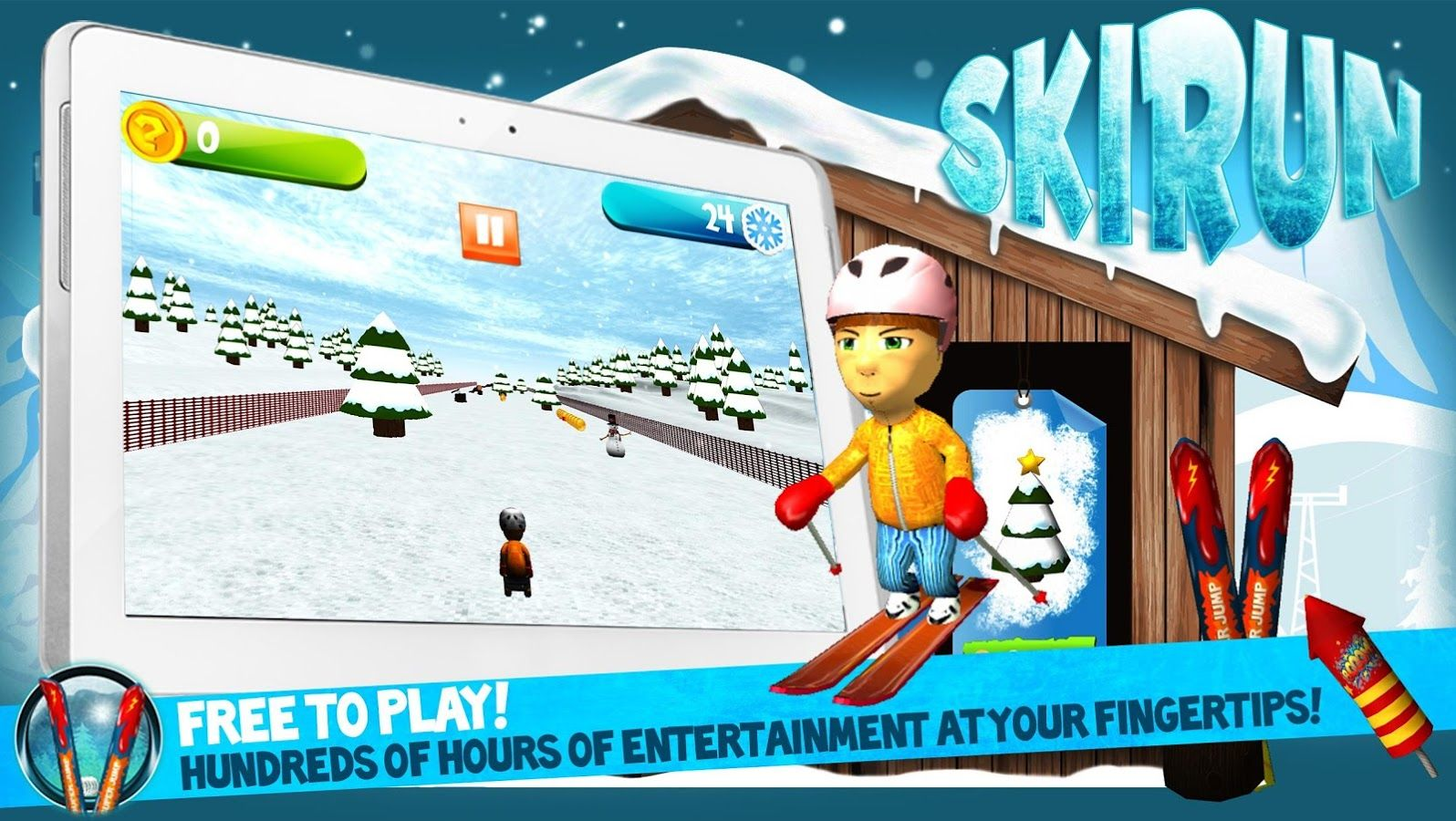 Ski Run, by Twin Games for #Android #indiegames #videogames #gamesinitaly
