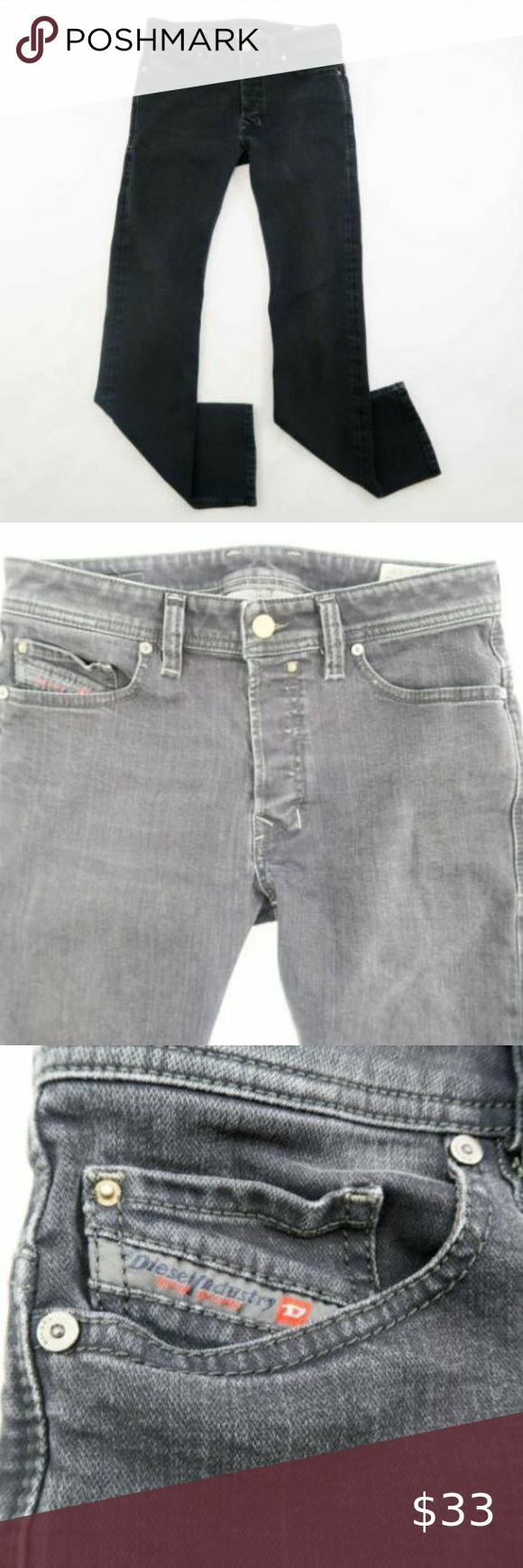 DIESEL Safado 0842K Regular Straight Regular Denim DIESEL Safado 0842K Regular Straight Regular Denim Jeans 27x30 Black Cotton Diesel Jeans Straight