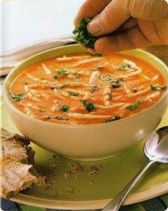 sopa tomate maíz