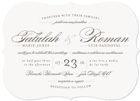 Love Language Wedding invitations, Wedding invitation