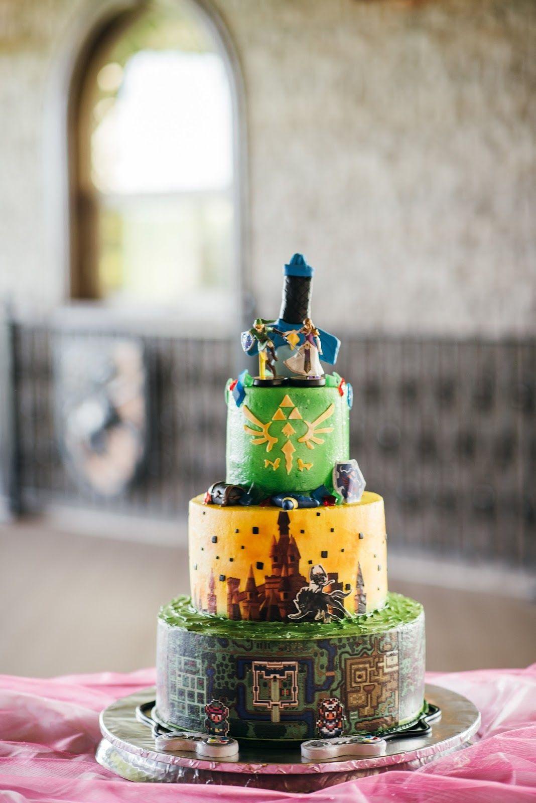 The Animated Anajo The Cake Legend Of Zelda Wedding Cake My