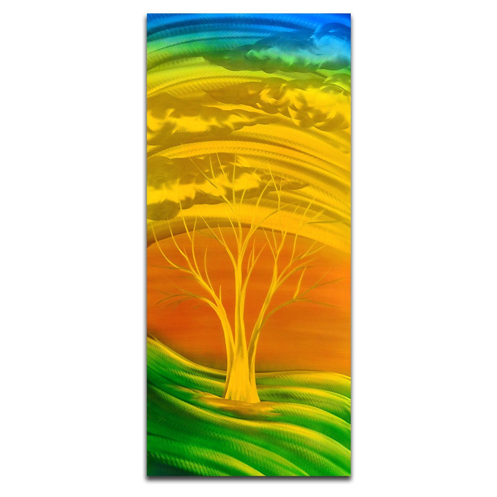 OMAX Fiery Golden Green Handmade Modern Metal Wall Art - MC7008 ...