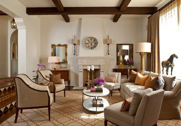 Santa Barbara Style Mediterranean Living Room Cabana Home
