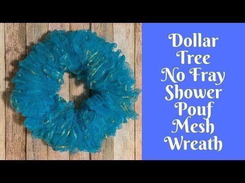 Photo of Wonderful Wreaths: Dollar Tree No Fray Shower Pouf Mesh Wreath, #dollar #FRAY #Mesh #Pouf #s …