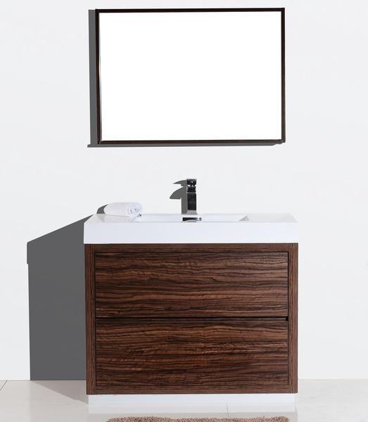"Bliss 40"", Kubebath Modern Walnut Vanity | Bathroom sink ..."