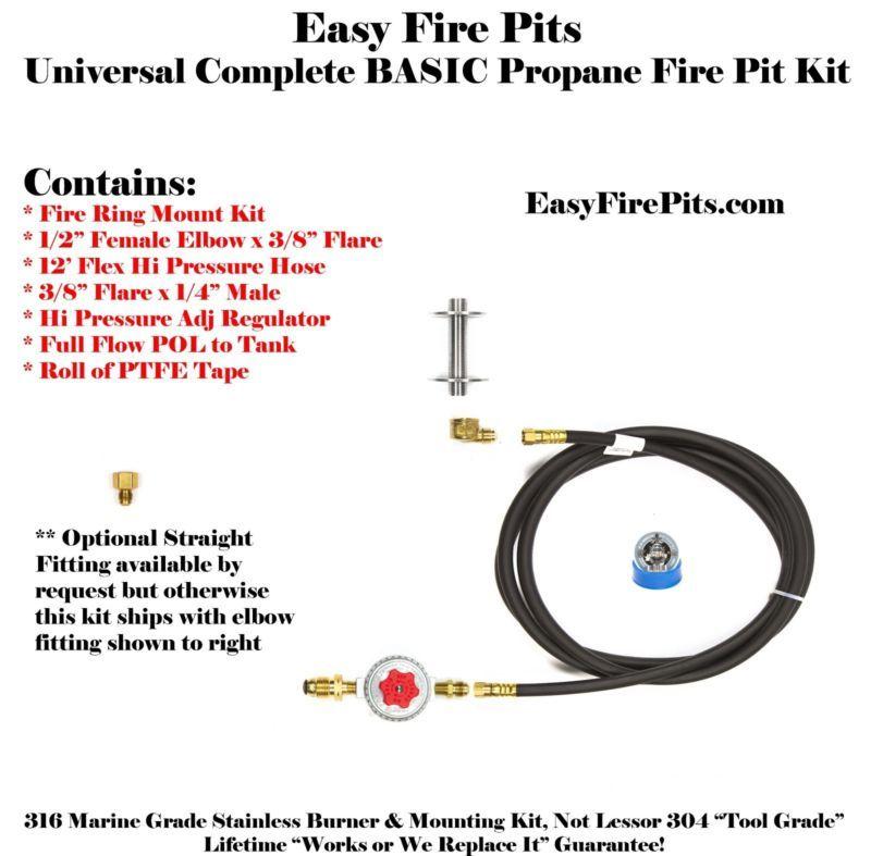 Details about t60ck basic propane diy gas fire pit kit
