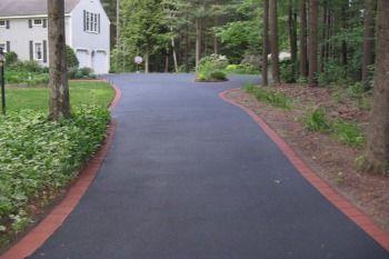 Asphalt Driveway Cost Per Sq Ft Blacktop Driveway Driveway Landscaping Paver Driveway
