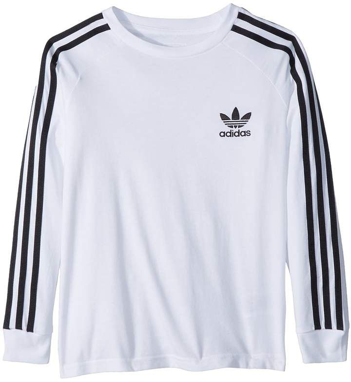 44757717bb9a adidas Originals Kids California Long Sleeve Tee Boy's Long Sleeve ...