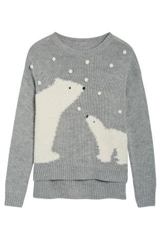 a9af6c59a Buy Grey Polar Bear Sweater from the Next UK online shop