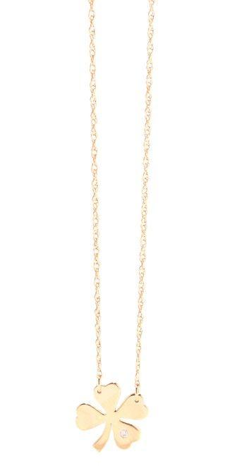 Jennifer Zeuner Jewelry Clover Necklace with Diamond #Shopbop