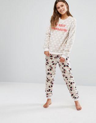 c939ea1850df Chelsea Peers Panda Fleece Pyjama Set Latest Fashion Clothes