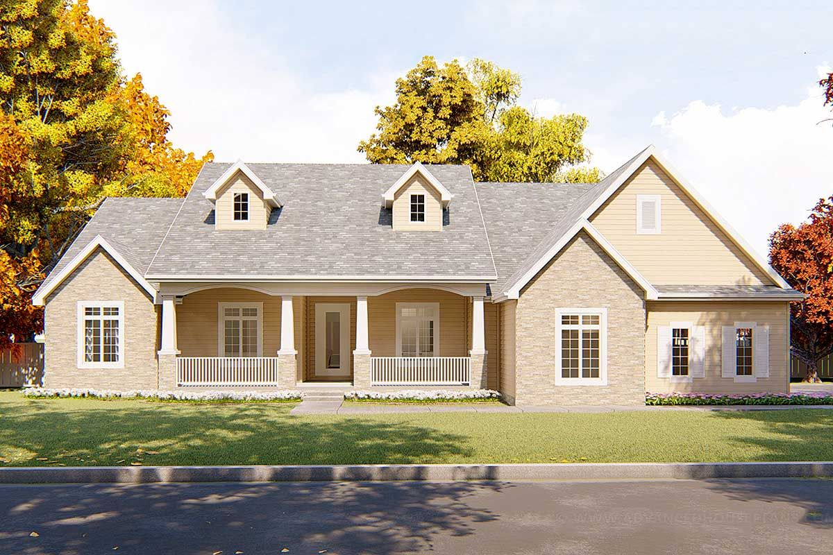 Plan 62443dj 3 Bed Farmhouse With Covered Front Porch Farmhouse Style House Plans House Plans Farmhouse House Plans