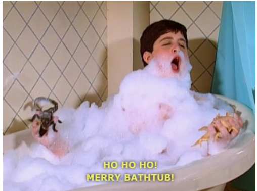 Merry bathtub.