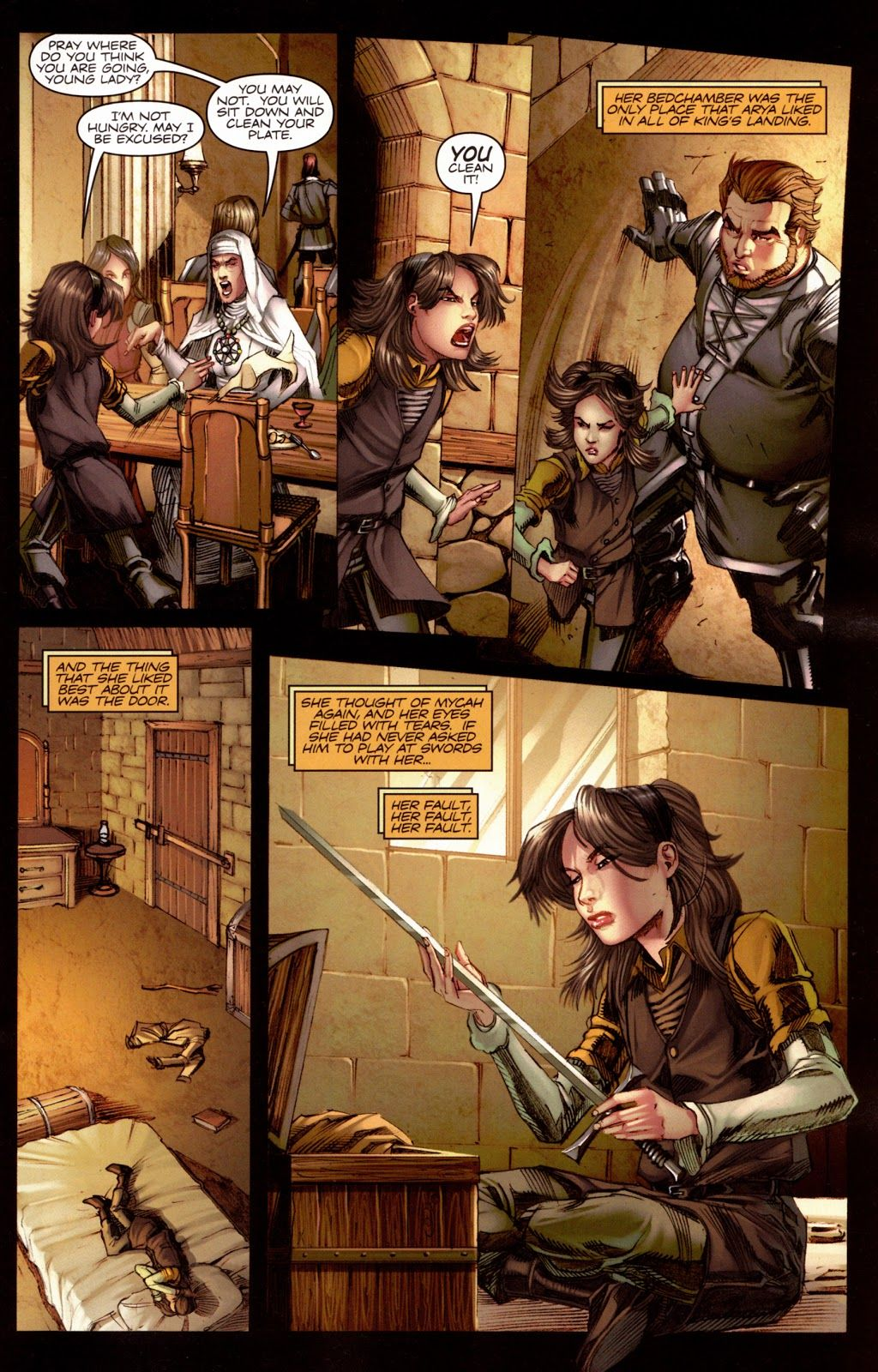 A Song Of Ice And Fire Game Of Thrones Graphic Novel Comic Georgia R R Martin Arya St Game Of Thrones Comic Johanna Mason Hunger Games Hunger Games Books