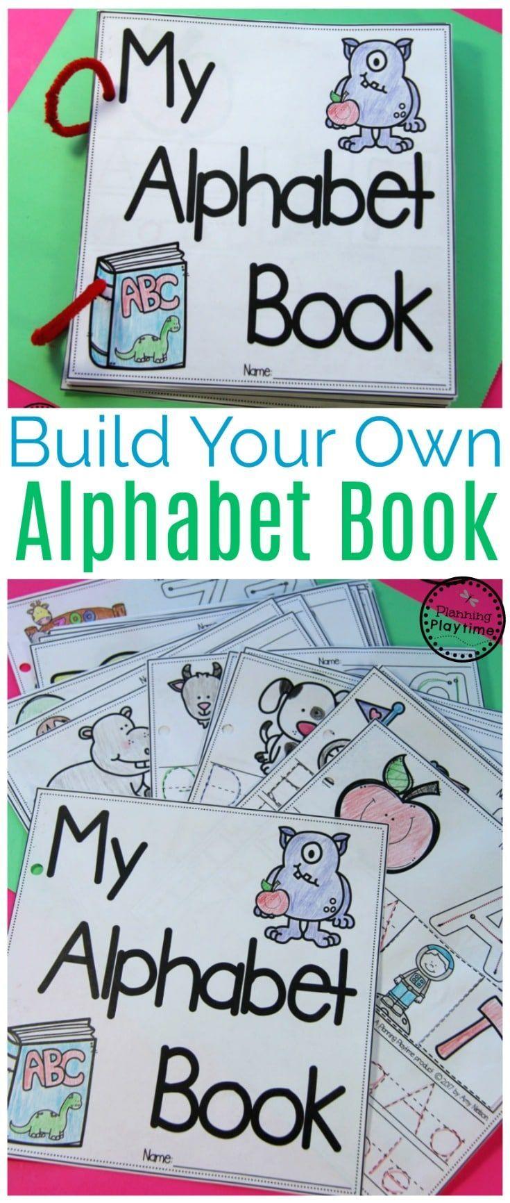 Diy Alphabet Books Planning Playtime Alphabet Book Preschool Alphabet Book Alphabet Preschool [ 1732 x 735 Pixel ]